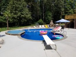 Angier pool patio