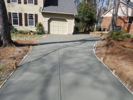 Broomed driveway