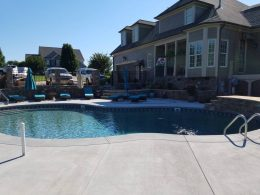 Broomed pool patio in WF