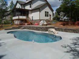 Corys neighbors pool and wall
