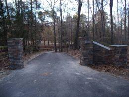 Driveway masonry entrance