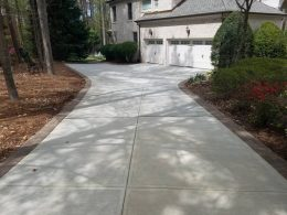 Driveway with paver border