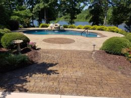 FAS pool patio after