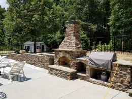 Hardscapes with fireplace