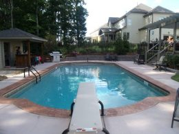 Heidi pool with terra cotta coping