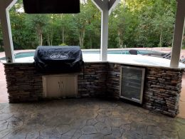 My outdoor kitchen showing front