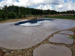 New Stamped Pool patio
