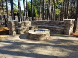 Spence seat wall and firepit