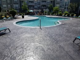 Stamped commercial pool
