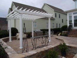 Wanda Broom outdoor bbq and Pergola