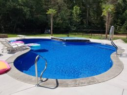 angier pool with tanning ledge