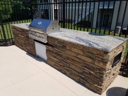 apartment hardscape grill