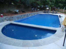 bluestone coping with wall and uncolored pool