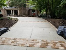 chapel hill driveway with paver inserts 2