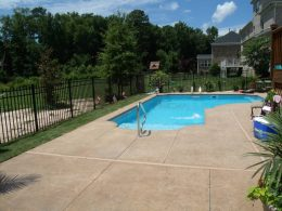 classic beige stamped pool