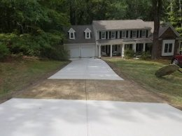 driveway with ashlar stamp in front