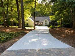 driveway with paver front and inserts 2