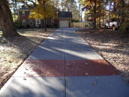 driveway with terra cotta front stamped