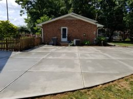 extra wide driveway