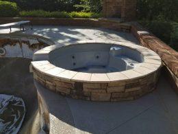 hot tub masonry surround 1