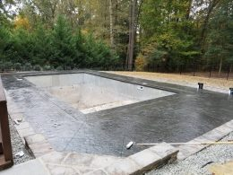 medium grey stamped pool with 4 foot diamond cuts