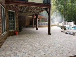 neighbors paver patio