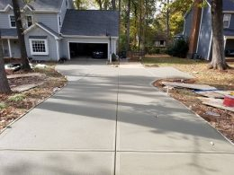 new broomed driveway
