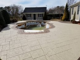 overlay over stamped concrete