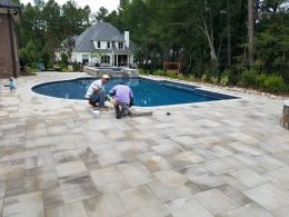 paver patio for raleigh pools