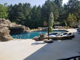 pool patio with grotto