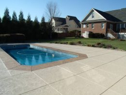 pool with overlay and 4 foot saw cut joints