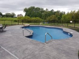 robery hayes stamped pool patio with jump rock