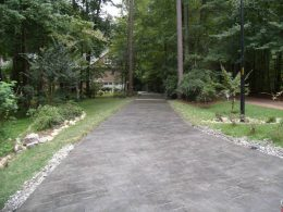 stamped driveway