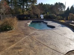 stamped pool patio