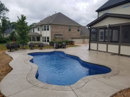 stamped pool patio 3