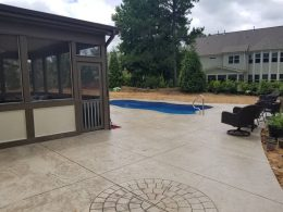 stamped pool patio 4