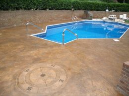 stamped pool with compass stamp