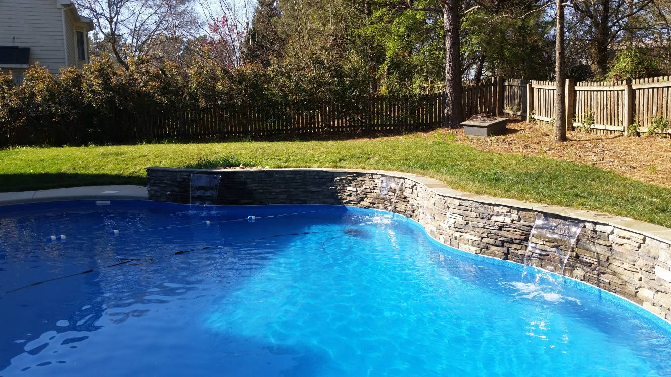 water feature wall with 3 sheers