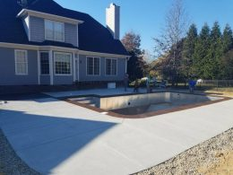 youngsville pool with terra cotta coping